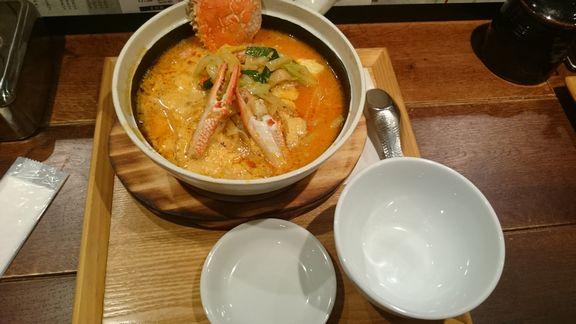 渡り蟹の砂鍋麺.JPG